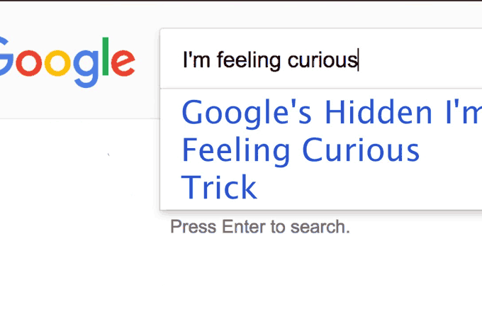 New Google's 'I'm feeling curious' Feature
